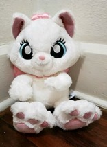 "Disney Parks 14"" Marie Big Feet White Cat Pink Now Plush - $19.34"