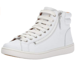 UGG W Olive Casual High Top Sneakers White Leather Size 6 &  9.5 US NIB - $84.99