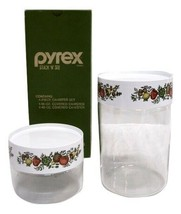Vintage USA Pyrex Stack N Store Glass Canister-2-  SPICE OF LIFE NEW IN ... - $39.59
