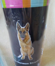 DOG LOVERS CUP German Shepherd Double Wall Insulated with Straw NEW image 3