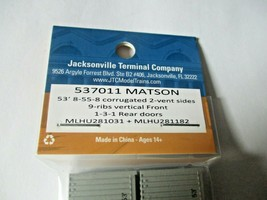 Jacksonville Terminal Company # 537011 Matson 53' Container 2 Pack  N-Scale image 2