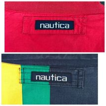Nautica Reversible Jacket XL Red Striped Lightweight Coat Sailing Boat Vintage image 10