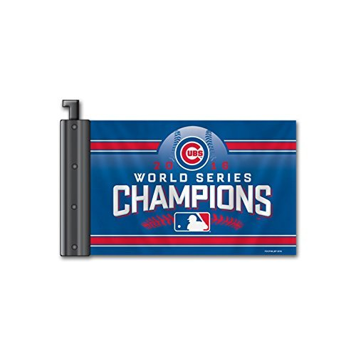 Chicago Cubs Antenna Flag 2016 World Series Champs [Free Shipping]**Free Shippin - $14.99