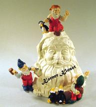 "House of Lloyd ""Sculpting Santa"" Figurine - Santa Sculpture with Elves -... - $24.14"