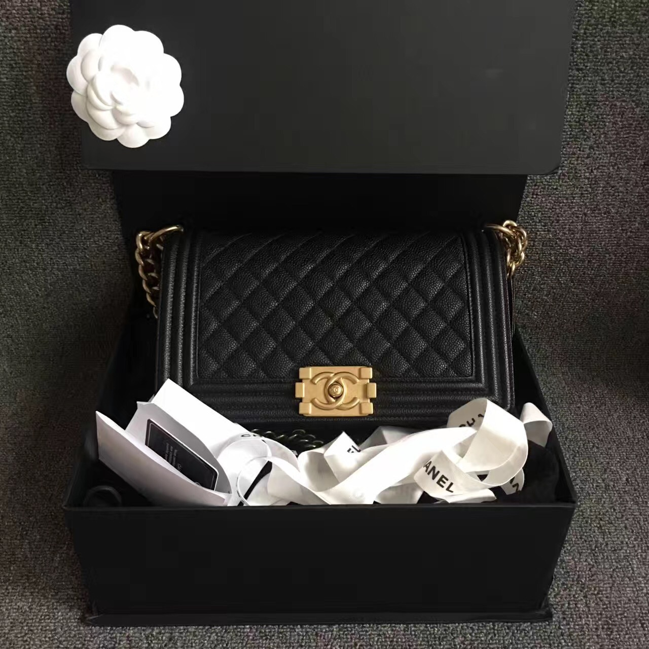 2ae01b1e1f4d9c Img 6883. Img 6883. Previous. AUTHENTIC NEW CHANEL 2017 LE BOY BLACK CAVIAR  MEDIUM FLAP BAG GHW RARE · AUTHENTIC NEW CHANEL ...