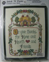 """We Give Thanks Counted Cross Stitch 4098 Hearth & Home 8 x 10"""" Needle Magic - $8.27"""