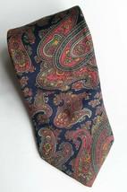 Van Heusen 417 Mens 100% Silk Necktie Blue Pink Green Paisley - $4.99