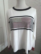 Tommy Hilfiger Studded Flag Color Block Sweater Top Nwt Size M - $28.00