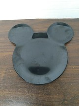 Disney's MICKEY MOUSE Ears Black Plastic Plate Children's dish tableware - $7.43