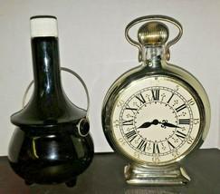 Avon Clock and Bean Pot Empty Vintage Bottles Lot 2 Mens - $16.99