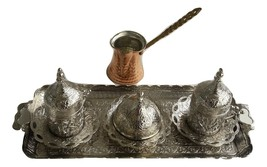 Authentic Turkish Ottoman Coffee Espresso Set Coffee Pot and  Grinder  - £50.59 GBP