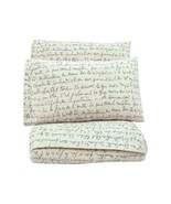 Letters SHEETS SET Black white Teens Bedding King size 4 PIECES - $110.32
