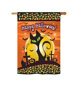 "Halloween Black Cat - 28"" x 40"" Impressions House Flag - H112050 - €36,35 EUR"