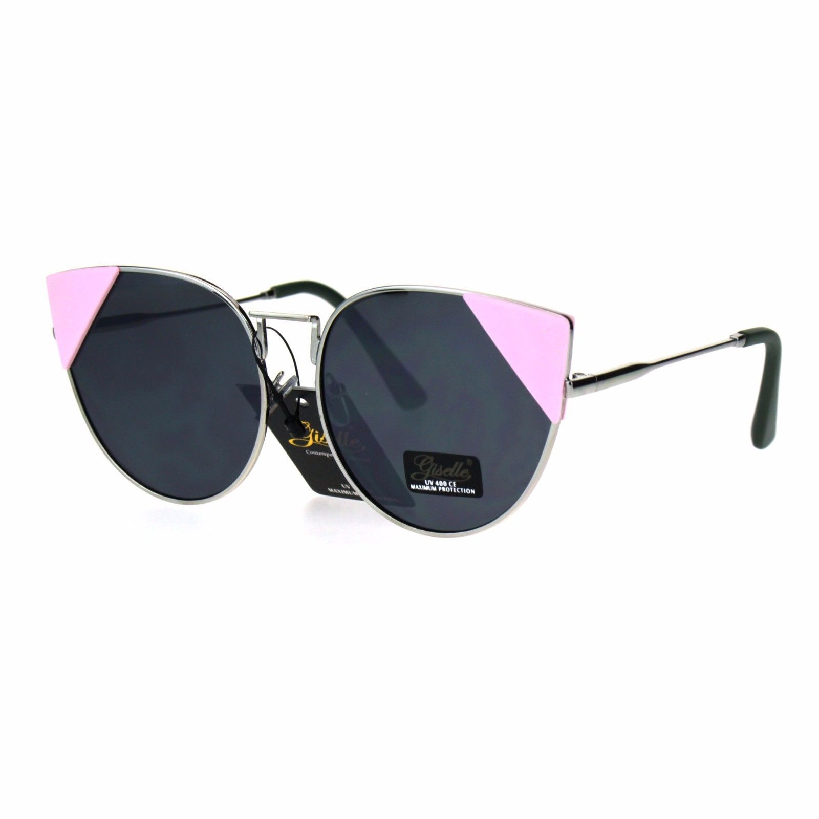 Womens Sunglasses Triangle Corner Color Block Cateye Fashion Shades