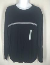 NWT Geoffrey Beene Black Crewneck Pullover Sweater XXL 2XL MSRP $65 - $19.50