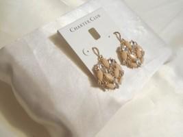 Charter Club Gold-Tone Crystal Pink Cluster Dangle Drop Earrings B702 $29 - $13.43