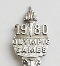 Collector Souvenir Spoon 1980 Olympic Games Winter and Summer - $6.99