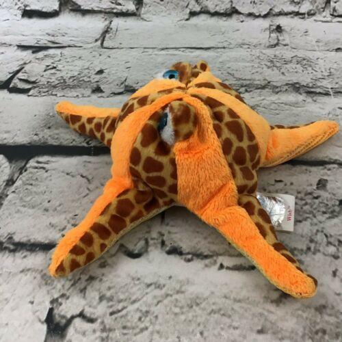 Ty Beanie Baby Wish Plush Orange Spotted Starfish Beanbag Stuffed Animal Toy