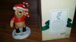Disney Winnie Pooh Figurine Wishing you the Sweetest Holiday Ever Candy ... - $37.14