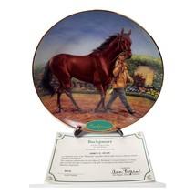 Danbury Mint Race Horse Collector Plate Buckpasser Champion Thoroughbreds Collec - $44.99