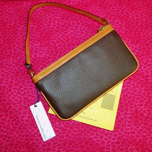 Dooney & Bourke Pebble Leather Front Pocket Wristlet NWT image 2