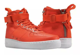 New Nike SF 1 Mid Team Orange White Special Field Air Force AF1 917753 8... - £58.03 GBP