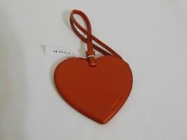 Coach Burnt Orange Glitter Leather Heart Charm MP135 $30 - $15.35