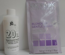 Revlon BLONDE UP 7 GENTLE Dust Free Bleach 1.76 oz & 4 fl oz 20 Volume Developer - $7.45