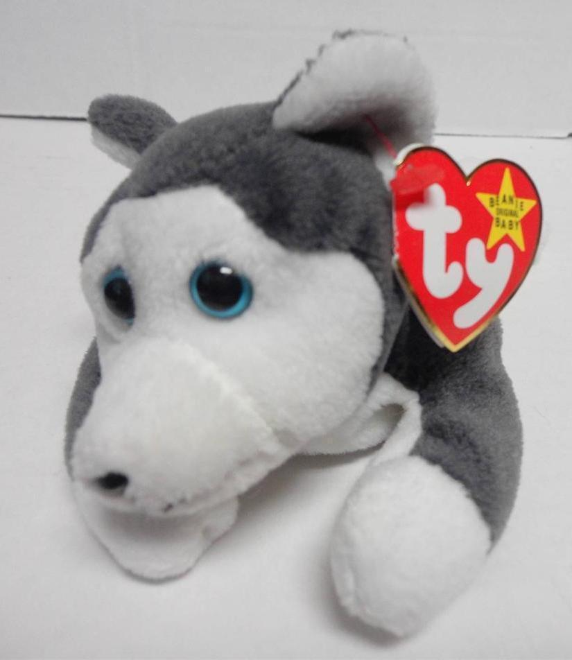 TY Beanie Baby Nanook the Husky Dog PVC pellets Style in Swing Tag 1996
