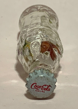 Coke Coca-Cola Mini Miniature crystal glass bottle Dried Colorful Flowers inside image 5