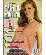 Modern Machine Knitting Jul 1994 Magazine Intarsia Captain Scarlet to th... - $29.99
