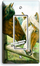 AMERICAN COUNTRY FARM LOVE HORSES KISSING 1 GFCI LIGHT SWITCH WALL PLATE... - $10.99