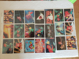 Disney 1991 Pro Set THE LITTLE MERMAID Activity Story Cards Lot w/ Sleeves - $9.99
