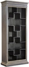 Shelf FURNITURE CLASSICS VALOIS Charcoal Gold Highlights - $2,059.00