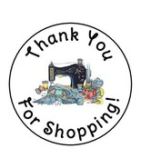 tkcutecandies123 24 Sewing Craft Thank You for Shopping Favor Labels Round Stick - £9.80 GBP