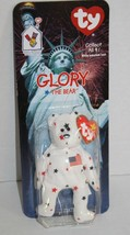 TY Teenie Beanie Babies GLORY THE BEAR 1999 USA Red White Blue Plush Stu... - $8.29