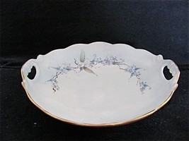 1901-1932 Small Blue & White Oval Serving Dish ... - $16.69