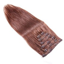 14 Inch Clip In Remy Human Hair Extensions 100g, Stainless Clip On Real Human Ha - $45.99+
