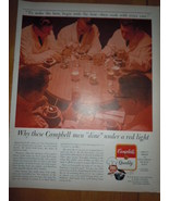 Campbell Soup Men Dine Under Red Light Print Magazine Ad 1964 - $5.99