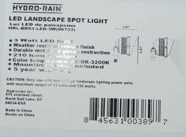 Hydro Rain HRL BRS1 LED 3W LED Landscape Spot Light Bronze Finish image 7