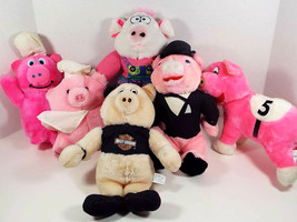 Plush Pigs Stuffed Animal Acme Brechner Sugar Loaf Harley Chef Tuxedo Es... - $29.99