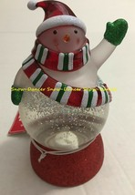 Hallmark 2012 Snowman Snow Globe Water Globe Magic Multi Color Lights - $189.99