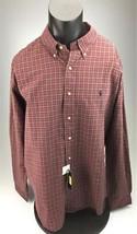 Ralph Lauren Classic fit red plaid long sleeve button down shirt NEW XXL - $32.94
