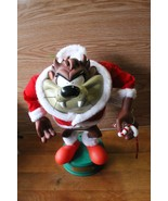 """LOONEY TUNES 13"""" ANIMATED TAZ CHRISTMAS MOTION FIGURE ARMS MOVE - $29.99"""