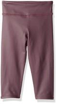 NWT $44 Kids Girls Onzie Yoga Capri Pant Legging in Purple Fishnet sz 4 / 5 - $16.63