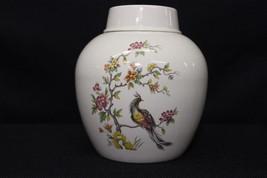 Burleigh Ironstone Ginger Jar w/Lid, Bird of Paradise Motif, Staffordshi... - $59.99