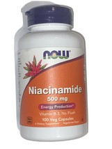 Now Foods Niacinamide 500 mg Energy Production Diet Support - 100 Capsules - $16.99