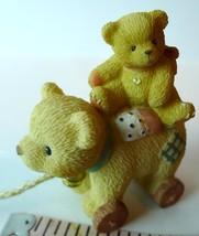 Pull Toy Bear Little Friend Priscilla Hillman Enesco figural 1999 image 2