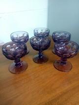 "Vintage Lot Of 6 ~Imperial Glass Purple Amethyst Provincial Sherbet Goblet 4"" - $40.00"