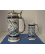 VINTAGE 1981 AVON BEER STEIN OF THE HISTORY OF AIRPLANES MADE BY CERAMARTE. - $27.50